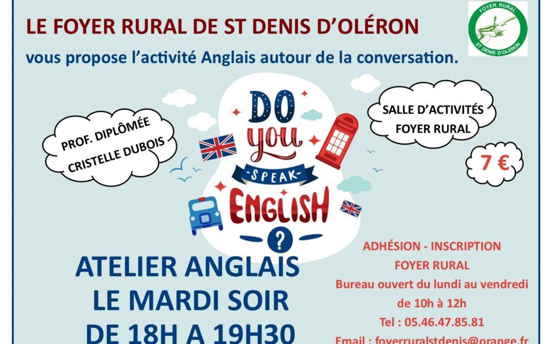 ATELIER ANGLAIS – ENGLISH CONVERSATION