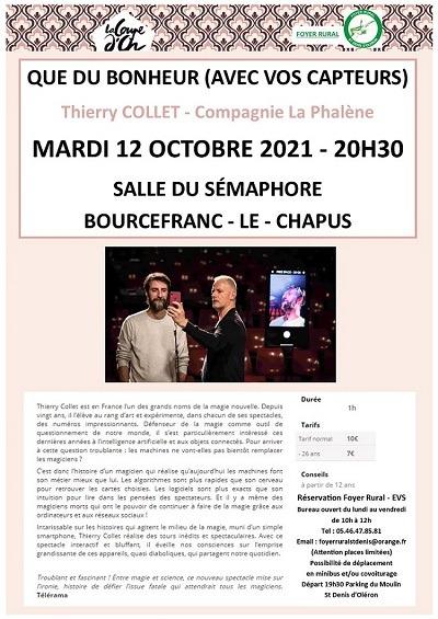 QUE DU BONHEUR (AVEC VOS CAPTEURS) – MARDI 12 OCTOBRE 2021