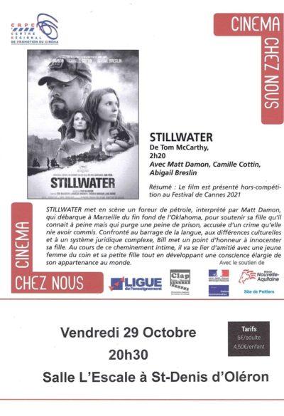 CINEMA – VENDREDI 29 OCTOBRE – 20H30 – STILLWATER